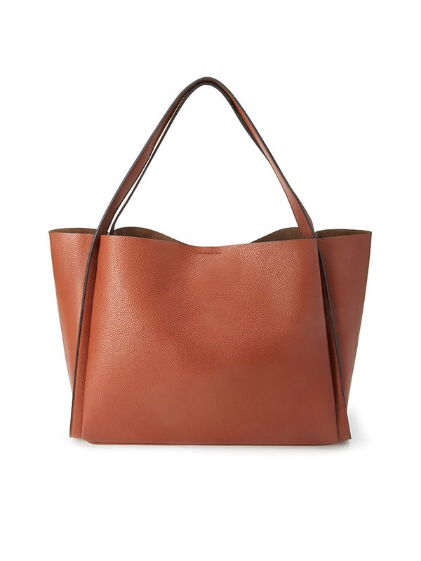 Forever 21 Pebbled Faux Leather Shopper in Brown