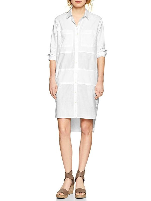 Gap Paneled Step-Hem Shirtdress