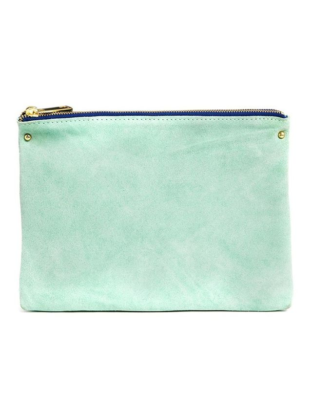 ASOS Suede Triple Compartment Clutch Bag