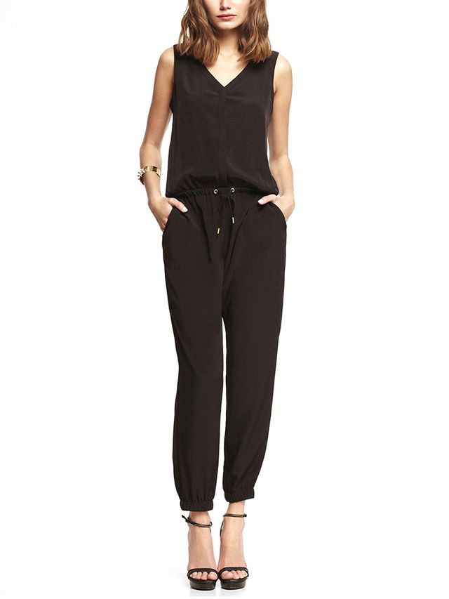 Express V-Neck Jumpsuit