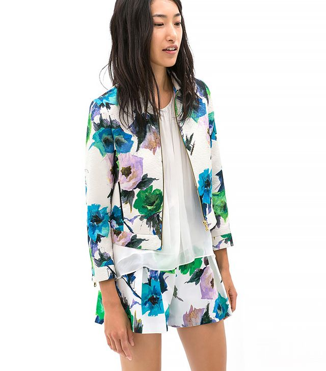 Zara Printed Blazer and Shorts
