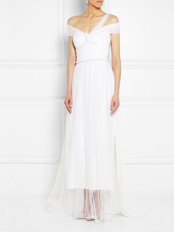Sophia Kokosalaki Metis Tulle-Covered Silk Gown