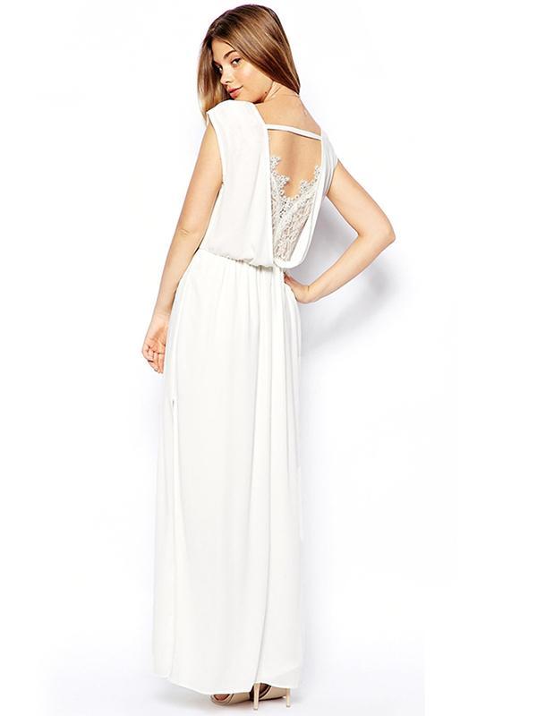 ASOS Lace Back Wrap Front Maxi Dress