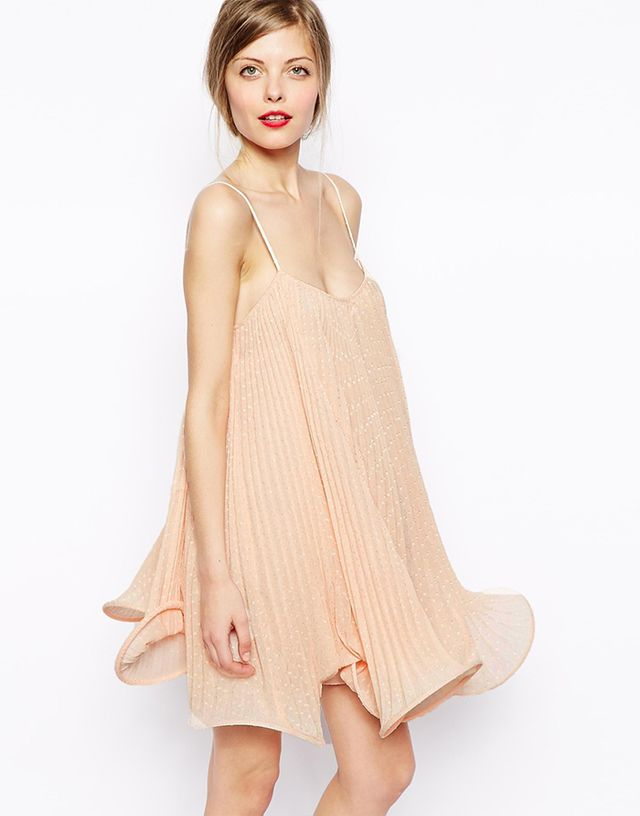 ASOS Cami Dress with Wiggle Hem in Nude