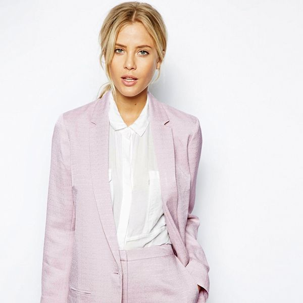 ASOS Blazer In Luxe Fabric