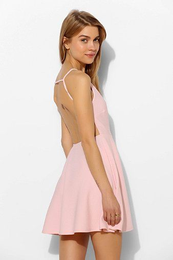 Oh My Love Strappy-Back Skater Dress