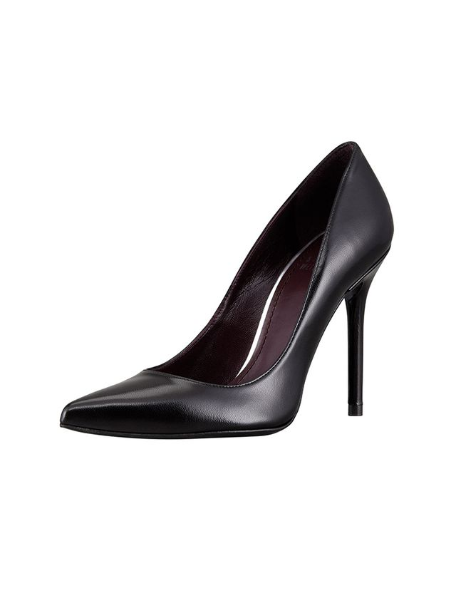 Stuart Weitzman Nouveau Leather Point-Toe Pumps