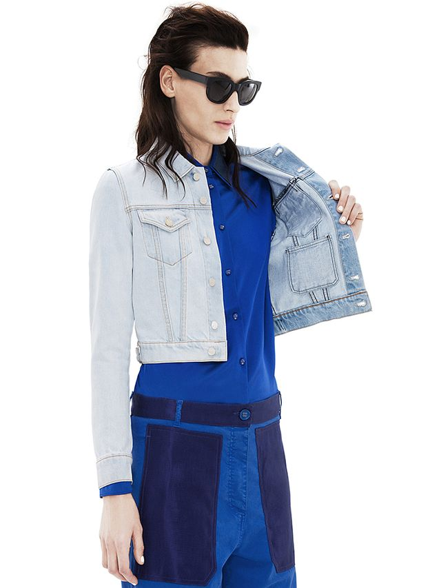 Acne Studios Tag Spray Vintage Blue Jacket