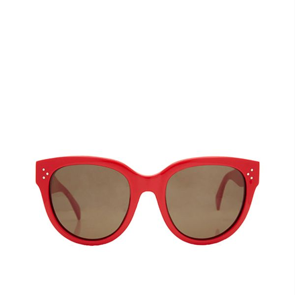 Céline Large Red Audrey Sunglasses