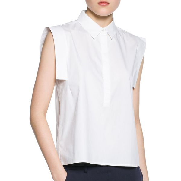 Mango Shirt collar blouse