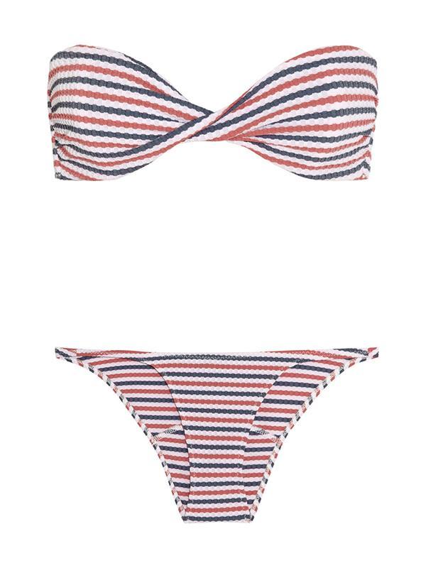 Lisa Marie Fernandez Textured Bandeau Bikini