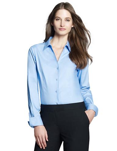 Jones New York Cotton Button-Down Shirt