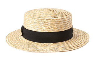 Forever 21 Classic Straw Boater Hat