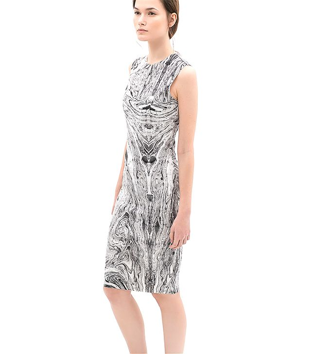 Zara Marble Print Dress
