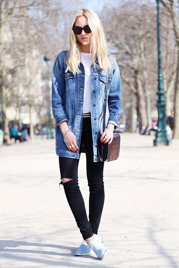 How To Wear An Oversized Denim Jacket