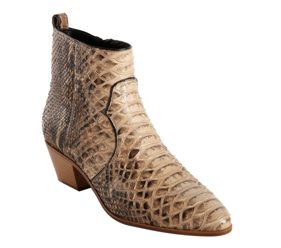 Saint Laurent Python Rock Ankle Boots