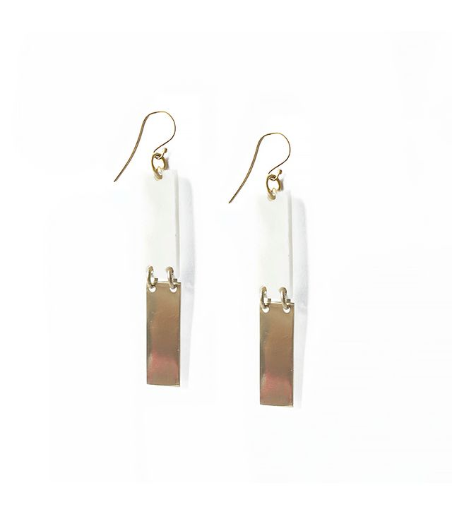 Contrast Rectangle Earrings