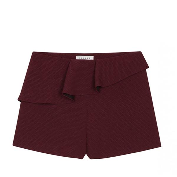 Sandro Paris Ruffle Shorts