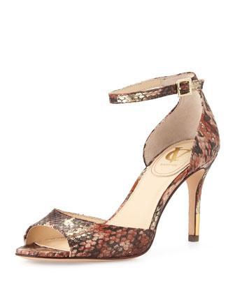 Vince Camuto Nilah Snake-Print Sandals