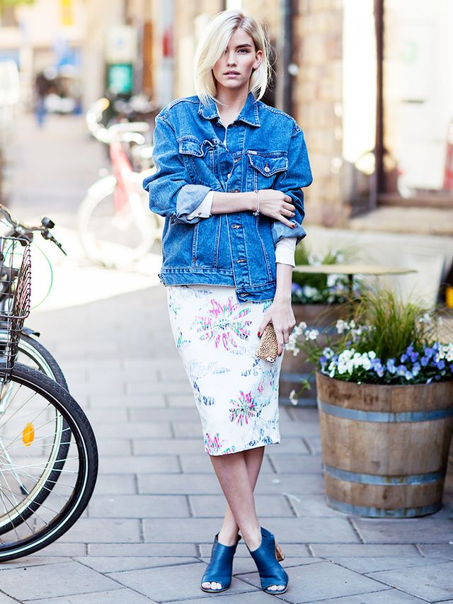 Tip of the Day: A Ladylike Way To Wear Your Jean Jacket