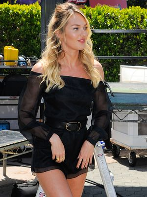 The Sexy Way To Wear A Romper, As Seen On Candice Swanepoel