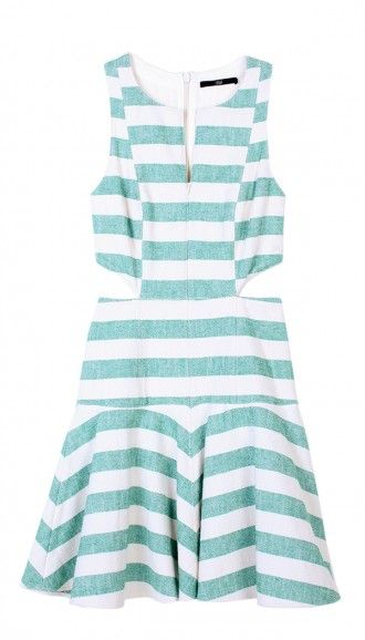 Tibi Blanket Cut Out Dress