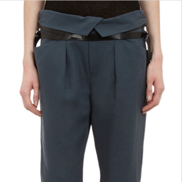 Isabel Marant Laced-Ankle Slouchy Trousers