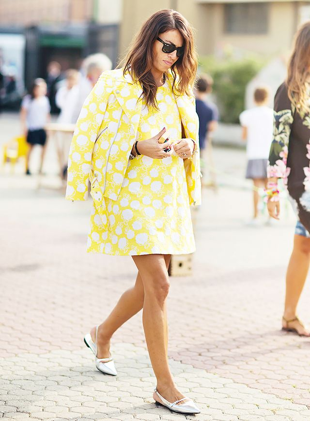 Yellow Dress Silver Shoes