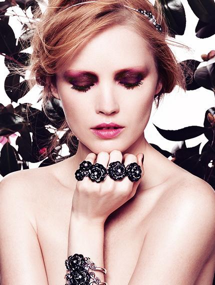 Elena Shilnikova Rocks Flowers and Heavy Metal in Madame Figaro