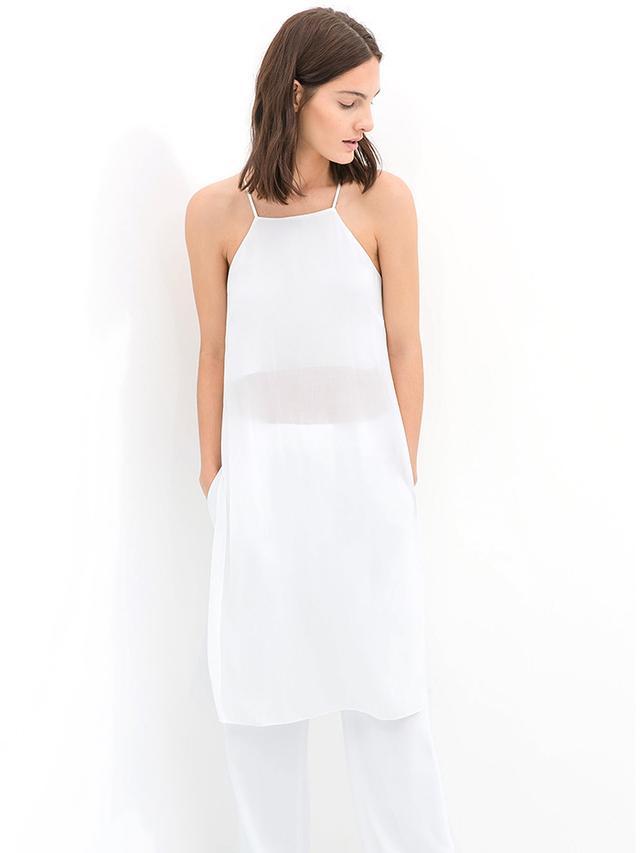 Zara Studio Semi-Sheer Dress