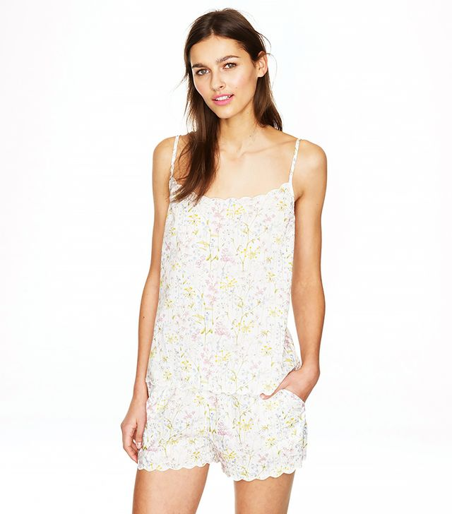 J.Crew Scalloped Pajama Short Set
