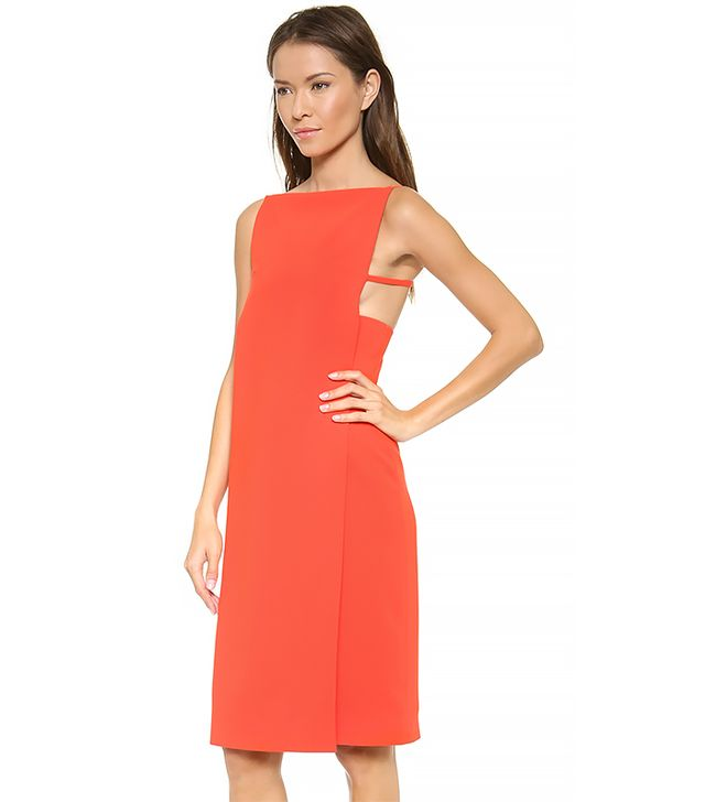 Alexander Wang Boat Neck Bra Strap Dress in Cola