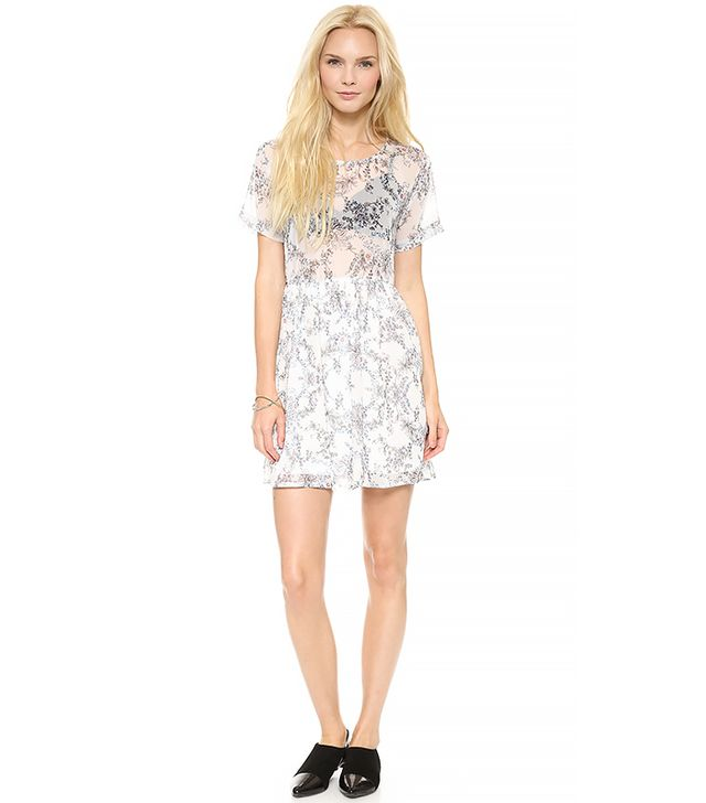 ANINE BING Loose Fit Floral Dress
