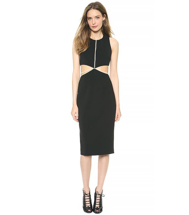 Cushnie Et Ochs Sleeveless Dress with Imitation Pearls