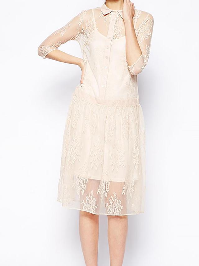 ASOS Lace Shirt Dress