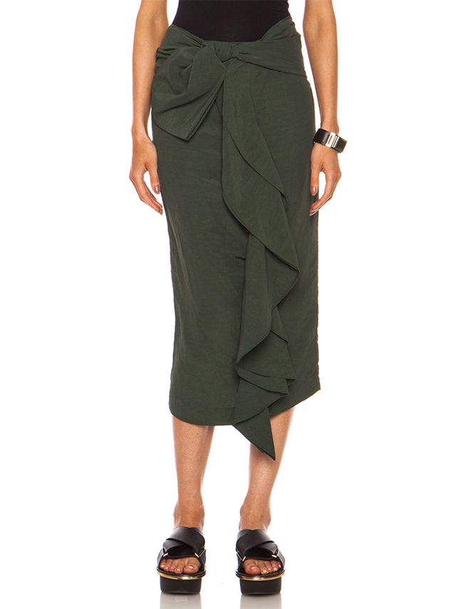 Marni Viscose-Blend Tie Front Skirt