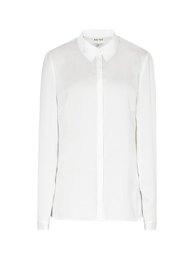 Reiss Jane Laser Cut Collar Shirt