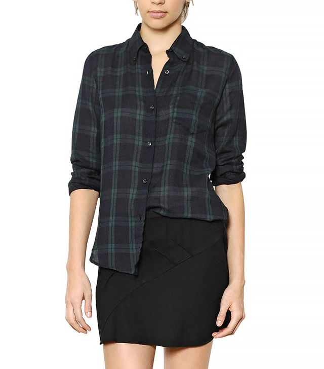 Isabel Marant Plaid Cotton Flannel Shirt