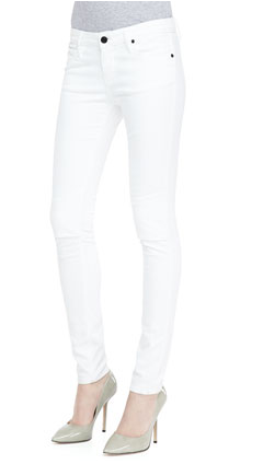 RtA Denim Knee-Slit Skinny Jeans