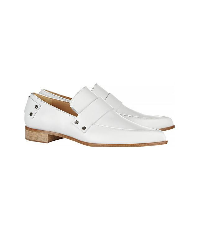McQ Alexander McQueen Grace Leather Point-Toe Flats