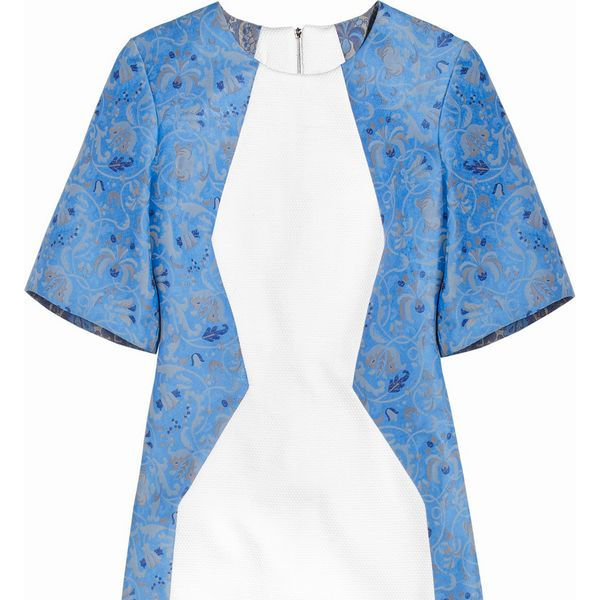 Richard Nicoll Color-block brocade dress