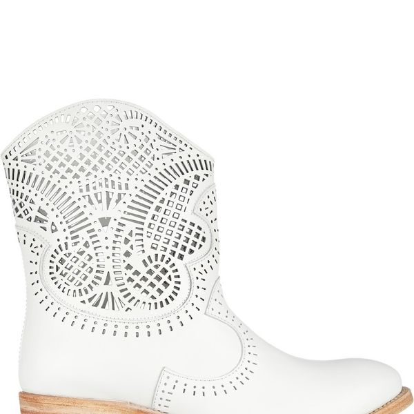 Sergio Rossi Laser-cut leather boots