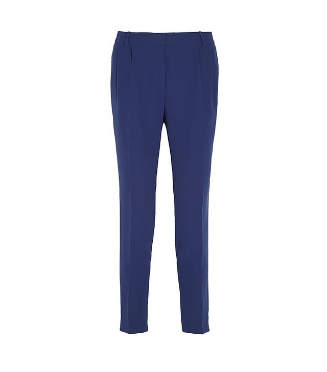 J. Crew High-Rise Crepe Tapered Pants