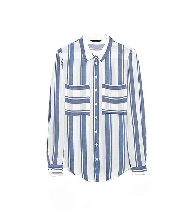 Mango Striped Lightweight Shirt