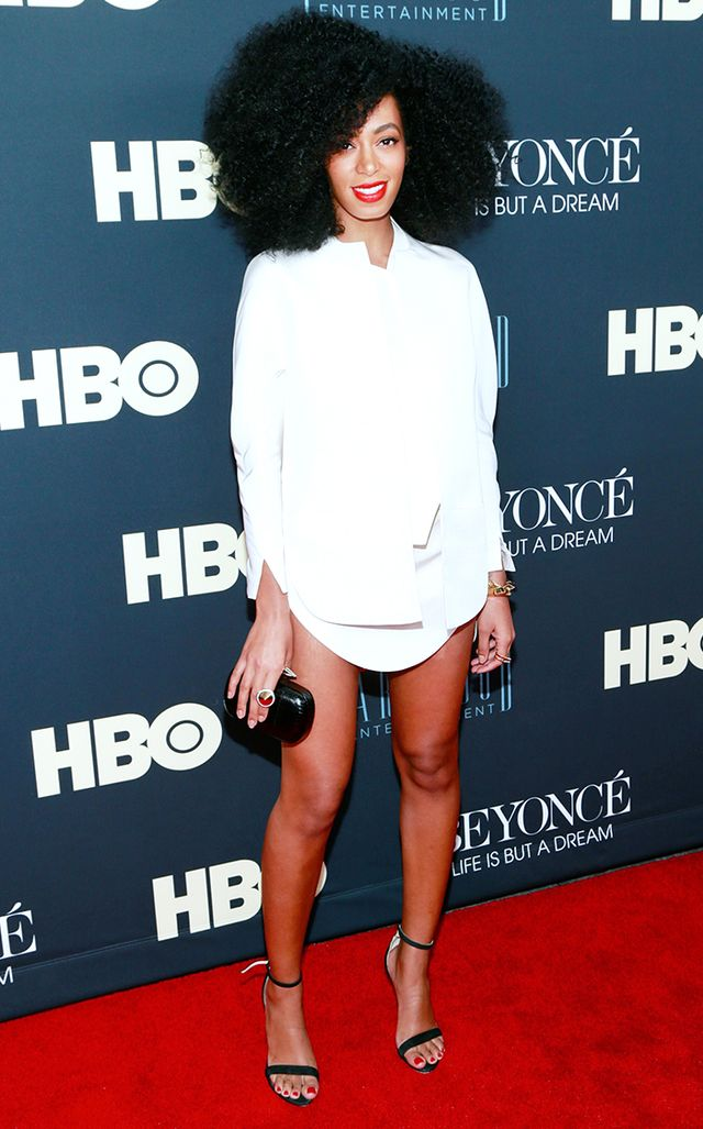 For the premiere of sister Beyoncé's HBO documentary Life Is But A Dream in New York, Knowles showed a whole lot of leg in a crisp white shirtdress.