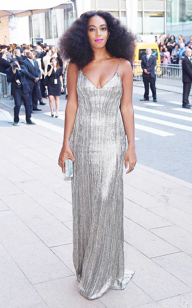 Knowles proves she can do a glittery column gown as well as any girl at the 2014 CFDA Awards, when she wore this sparkling Calvin Klein Collection dress.