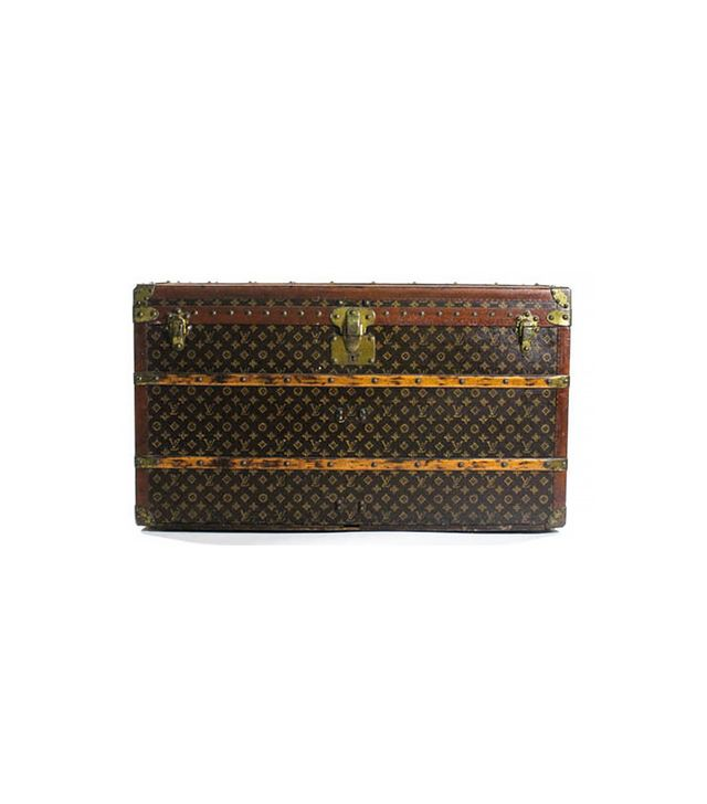 Louis Vuitton Monogram Leather Wood Wardrobe Steamer Trunk