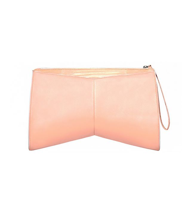 Narciso Rodriguez Boomerang Day Clutch With Lizard