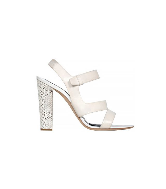 Narciso Rodriguez Sandals With Python Covered Heels