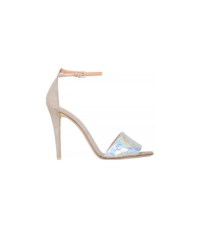 Narciso Rodriguez Hologram Ostrich One Banded Sandals